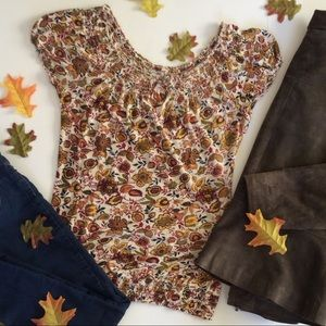 Lucky Brand Autumn Floral Top